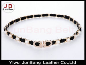 Latest Fashion Elastic Metal Belt in High Quality for Women pictures & photos