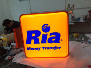 Chain Retail Shops Double Sides LED Sign Acrylic Plastic Blister Vacuum Light Box pictures & photos