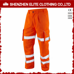 Reflective Hi Vis Men′s Cargo Work Pants with Pockets pictures & photos