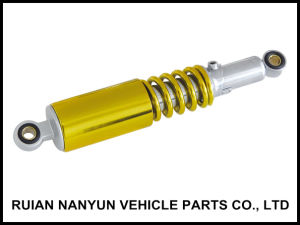 Yellow Chromed Motorcycle Rear Shock Absorber for Gn125 (QS-1052)