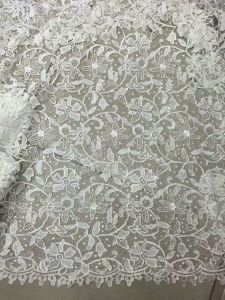 150 * 300 Whole Lace Wedding Dress Fabric Polyester Lace pictures & photos