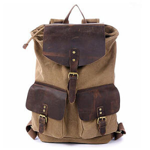 Hotsale in Alibaba Boy School Leather Bag Man Backpack (M3153) pictures & photos
