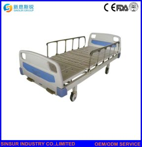China Cost Medical Nursing Equipment Manual Double Shake Hospital Bed pictures & photos