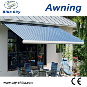 CE Approved Balcony Electric Polyester Retractable Awning B1200 pictures & photos