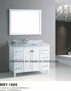 "48"" White Wood Bathroom Vanity with Marble Top pictures & photos"