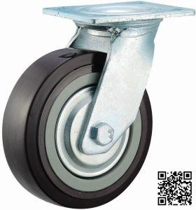 4/5/6/8 Inch Heavy Duty Black PU Castor Wheel Industrial Swivel PU Caster pictures & photos