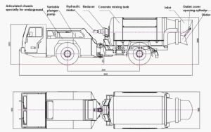Concrete Mixer Truck/Underground Concrete Mix Truck pictures & photos