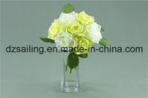 Widely Used Rose Bouquet Artificial Flower (SF12504/7)