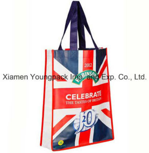 Laminated Non-Woven Small Promotional Giveaway Advertising Tote Bag pictures & photos