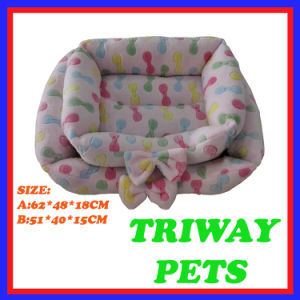 High Quaulity and Comfort Coral Velvet Dog Cat Pet Beds (WY161042A/B) pictures & photos