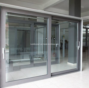 Pleasant Slimline Sliding Double Glass Aluminium Windows and Doors pictures & photos