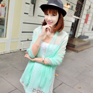 Pure Color Polyester Chiffon Scarf Shawl pictures & photos