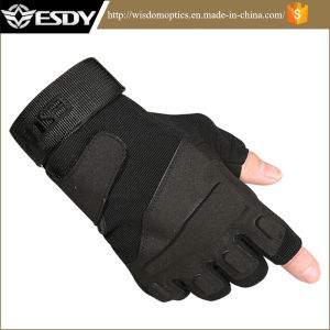 3 Colors Tactical Military Half-Finger Airsoft Hunting Riding Cycling Gloves pictures & photos