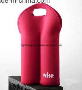 Neoprene 2 Bottles Pack Beer Can Cooler Neoprene Wine/Water Bottle Tote, Stripe Number 10 pictures & photos