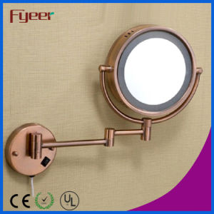 Fyeer Antique Copper Plated LED Makeup Wall Mirror pictures & photos