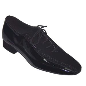 Black Patent&Nubuck Men′s Tango Dance Shoes pictures & photos