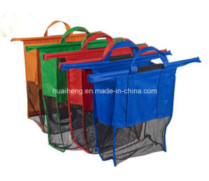 China Trolley Bags - Set of 4 Reusable Supermarket Shopping Bags ...