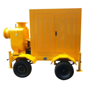 Trailer Mounted Diesel Engine Mobile Working Trash Pump pictures & photos
