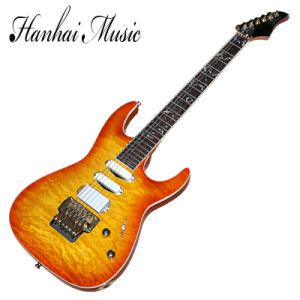 Hanhai Music / Orange 24 Frets Floyd Rose Electric Guitar pictures & photos