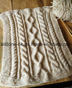 Customized OEM Cable Hand Knit Throw Blanket Expert Factory Manufacture pictures & photos