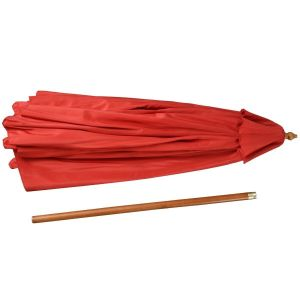 Sun Shade Wood Pole Outdoor Beach Cafe Garden Red 10FT Wooden Patio Umbrella pictures & photos