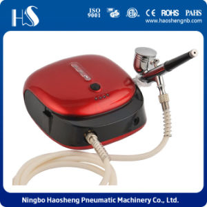 HS-M901k Nail Art Airbrush Kit Heart Compressor Dual-Action Spray 5 Design Stencil Sheets pictures & photos