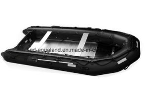 Aqualand 16FT 4.7m Hypalon Semi-Rigid Inflatable Motor Boat/Military Rib Rubber Rescue Boat (470) pictures & photos