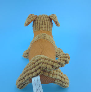 Brown Plush Pet Dog Toy with Squeaker Inside pictures & photos
