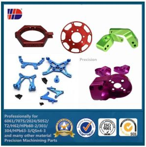 Colorful Anodizing Aluminum CNC Machined Parts (WKC-05) pictures & photos