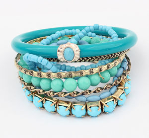 Multi-Layer Bohemian Ocean Style Fashion Beads Charm Bracelet Jewelry pictures & photos