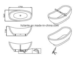 2016 Newly Simple Acrylic Freestanding Bathtub (LT-15D) pictures & photos