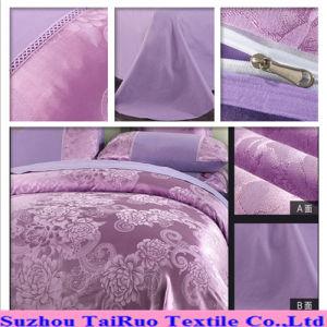 Disperse Bed Sheet of Jacquard Silk Satin Fabric pictures & photos