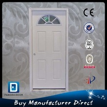 Fangda Bronze Caming Small Oval Glass Primed White Prehung Front Door pictures & photos