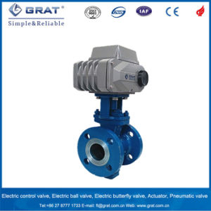 High Quality Electric Motorized Dn100 4 Inch Cast Steel Ball Valve pictures & photos