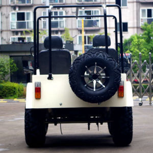 Jinyi Factory Lowest Price Oil Cooled 4-Stroke CVT with Reverse 200cc Gy6 Engine Gas Adult Pedal Go Kart (JYATV-020) pictures & photos