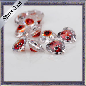 Heart Shape Mixed Color Brilliant Cut Cubic Zirconia for Jewelry pictures & photos