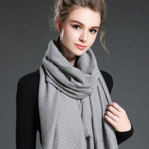 Women in Winter to Keep Warm Plain Grey Polyester Scarf Shawl pictures & photos