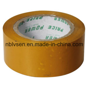 Utility Easy Tear Yellowish Indoor BOPP Tape for Packing
