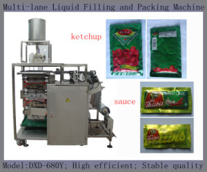 Lux Shampoo Packing Machine (4 sides sealing; 5ml per sachet;) pictures & photos