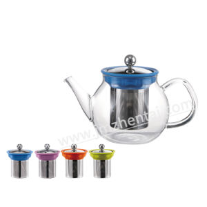 Wholesale Christmas Gift Borosilicate Glass Teapot 600ml pictures & photos