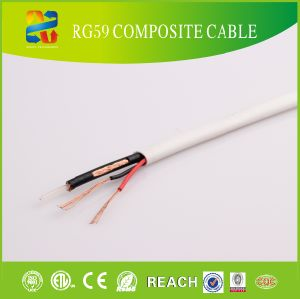 20AWG Solid Conductor Rg59 with Messenger Coaxial Cable pictures & photos