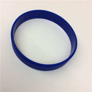 Custom Logo Printed on One Position Silicone Rubber Bracelet pictures & photos
