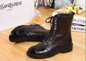 Popular Women Martin Boot with Lace up (S 101) pictures & photos