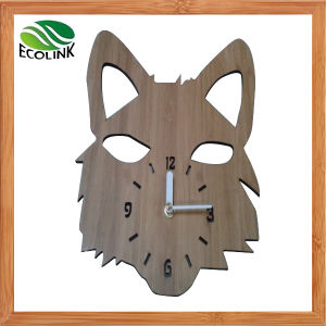 Animal Shape Bamboo Wall Clock pictures & photos