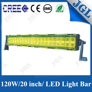 120W CREE LED Light Bar Yellow Cover Car Light pictures & photos