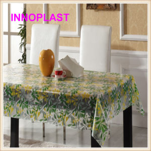 Hot Sales PVC Printed Transparent Table Cloths (TT0224) pictures & photos