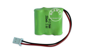 2/3AAA 3.6V 350mAh NiMH Rechargeable Battery Pack pictures & photos