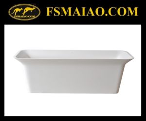 Rectangle Freestanding Bathtub Solid Surface Matt White (BS-8630) pictures & photos