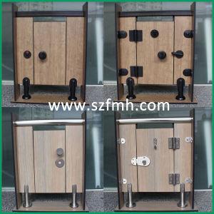 High Quality HPL Toilet Cubicle Black Nylon Hardware pictures & photos