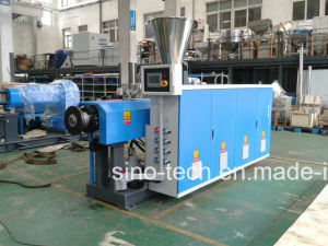High Capacity Filament PVC UPVC Conical Twin Screw Plastic Extruder pictures & photos